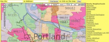 Portland Zip Code Map and Portland Neighborhood Map : Real Estate