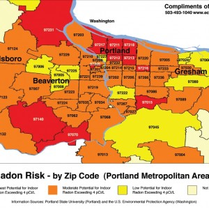 portland radon map