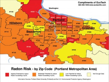 Portland Oregon Radon Map Real Estate Agent PDX - Radon us map