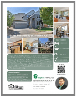 Portland Real Estate Home Flyer