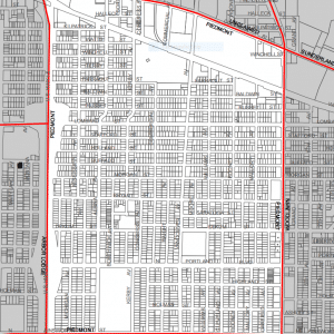 piedmont neighborhood boundary