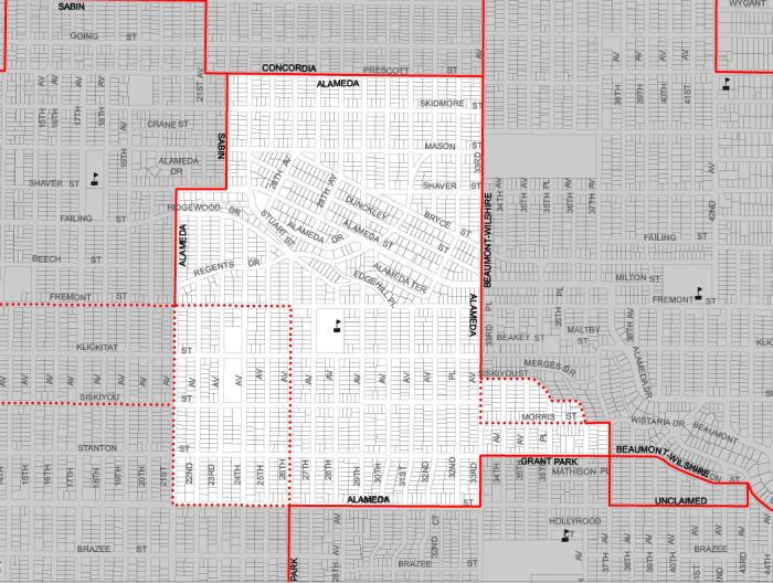 alameda neighborhood boundary map portland