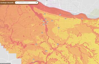 portland earthquake map
