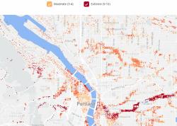 portland real estate flood map