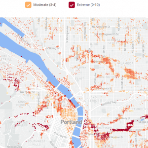 portland real estate flood map