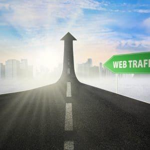real estate website traffic