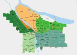 portland neighborhood map