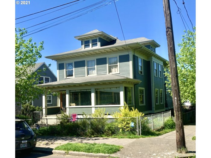 A typical foursquare style home in Portland