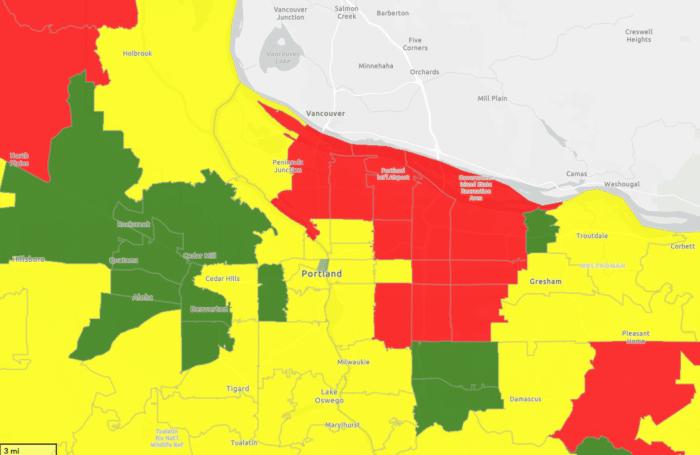 Portland Radon Risk Map