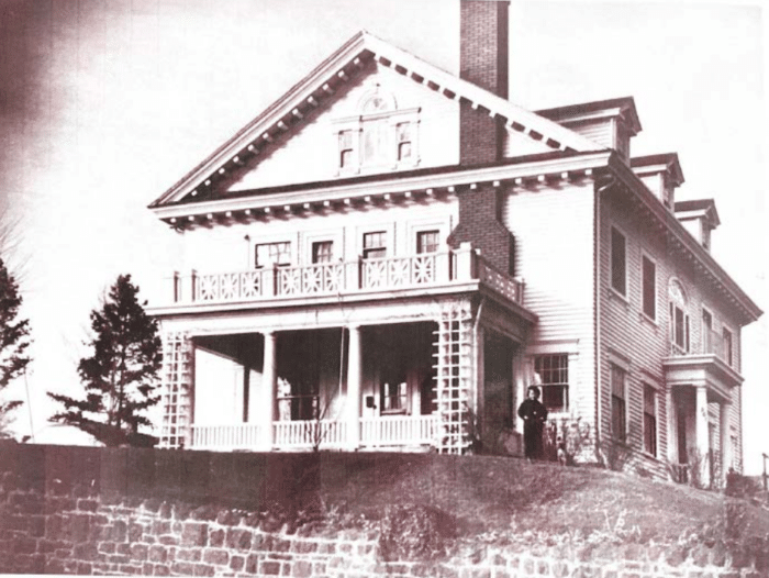 South side of the house, circa 1930's.