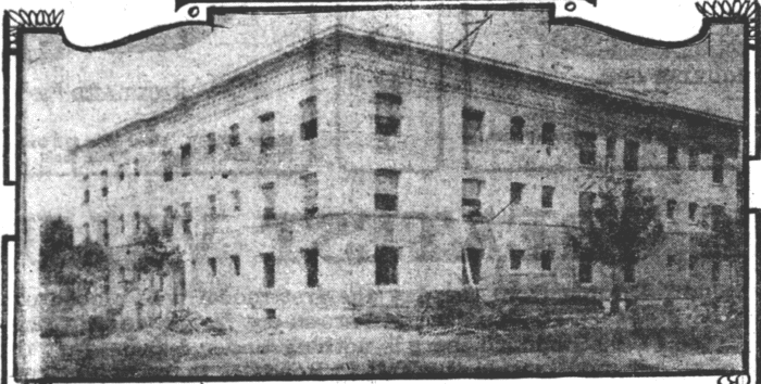 The newly constructed Pally Apartment building in 1910.